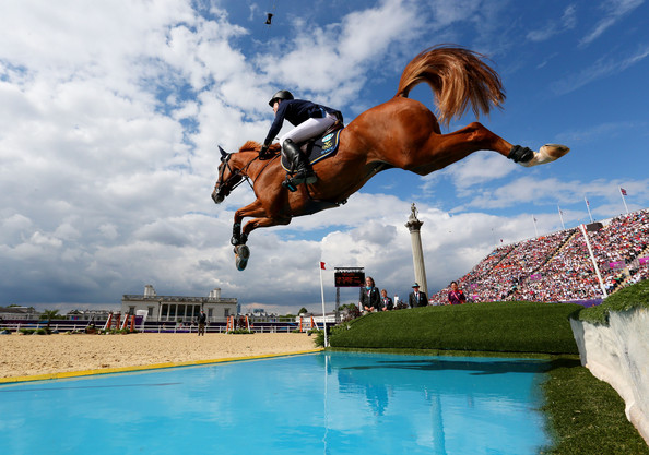 Henrik Von Eckermann [the rider] in the 2012 Olympics